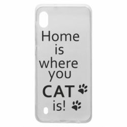 Чехол для Samsung A10 Home is where your Cat is!