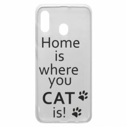 Чехол для Samsung A30 Home is where your Cat is!
