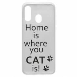 Чехол для Samsung A40 Home is where your Cat is!