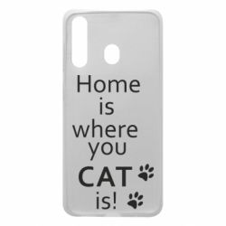 Чехол для Samsung A60 Home is where your Cat is!