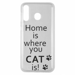 Чехол для Samsung M30 Home is where your Cat is!