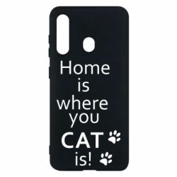 Чехол для Samsung M40 Home is where your Cat is!