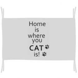 Флаг Home is where your Cat is!