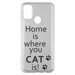 Чехол для Samsung M30s Home is where your Cat is!