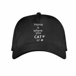 Детская кепка Home is where your Cat is!