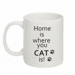 Кружка 320ml Home is where your Cat is!