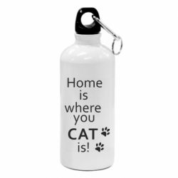 Фляга Home is where your Cat is!