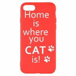 Чехол для iPhone 7 Home is where your Cat is!