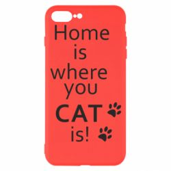Чехол для iPhone 7 Plus Home is where your Cat is!