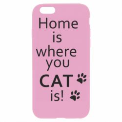Чехол для iPhone 6/6S Home is where your Cat is!