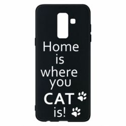 Чехол для Samsung A6+ 2018 Home is where your Cat is!