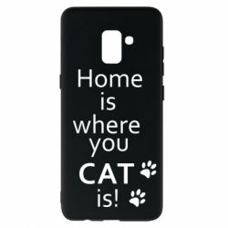 Чехол для Samsung A8+ 2018 Home is where your Cat is!