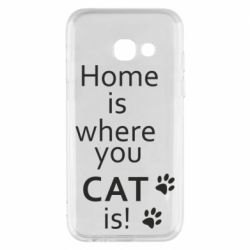 Чехол для Samsung A3 2017 Home is where your Cat is!