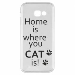 Чехол для Samsung A5 2017 Home is where your Cat is!