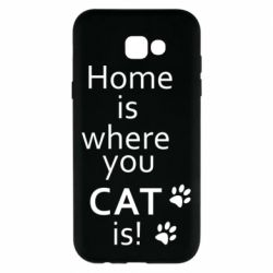 Чехол для Samsung A7 2017 Home is where your Cat is!