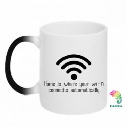 Кружка-хамелеон Home is where your wifi connects automatically