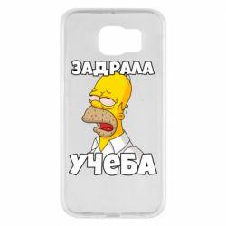 Чохол для Samsung S6 Homer is tired of studying