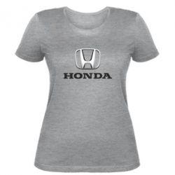 Женская футболка Honda 3D Logo - FatLine