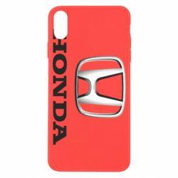 Чехол для iPhone X/Xs Honda 3D Logo