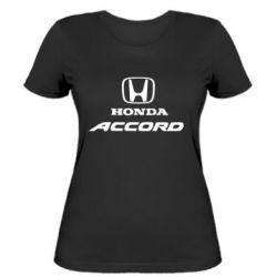 Женская футболка Honda Accord - FatLine