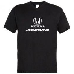 Мужская футболка  с V-образным вырезом Honda Accord - FatLine