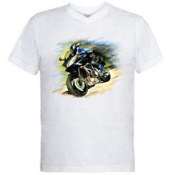 Мужская футболка  с V-образным вырезом Honda art 2