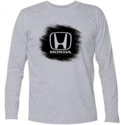 Купить Футболка с длинным рукавом Хонда арт, Honda art, FatLine