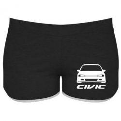 Женские шорты Honda Civic - FatLine