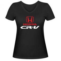 Женская футболка с V-образным вырезом Honda CR-V - FatLine