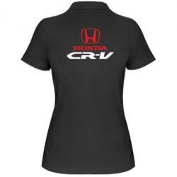 Женская футболка поло Honda CR-V - FatLine