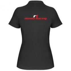 Женская футболка поло Honda F1 Racing