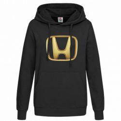 Женская толстовка Honda Gold Logo - FatLine