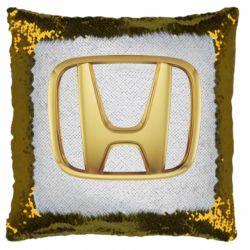 Подушка-хамелеон Honda Gold Logo