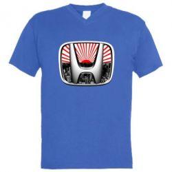 Мужская футболка  с V-образным вырезом Honda JDM - FatLine