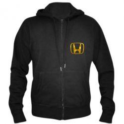 Мужская толстовка на молнии Honda logo Голограмма