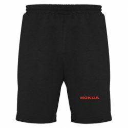 Мужские шорты Honda надпись - FatLine