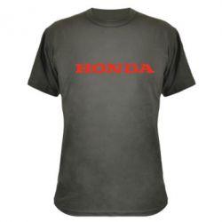 Камуфляжная футболка Honda надпись - FatLine
