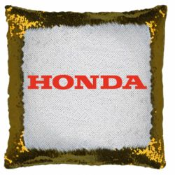 Подушка-хамелеон Honda напис