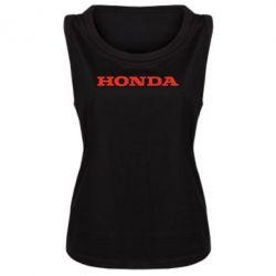 Женская майка Honda надпись - FatLine