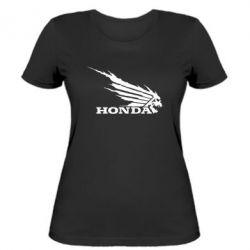 Женская футболка Honda Skelet - FatLine