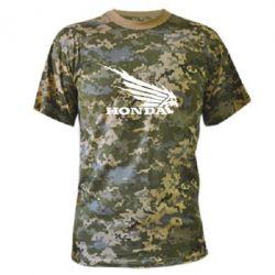 Камуфляжная футболка Honda Skelet - FatLine
