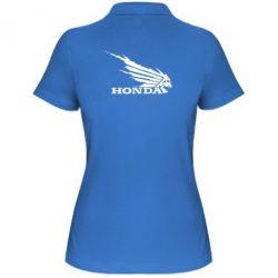 Женская футболка поло Honda Skelet - FatLine