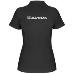 Женская футболка поло Honda Small Logo - FatLine
