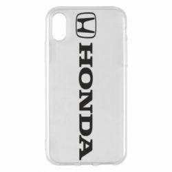 Чехол для iPhone X/Xs Honda Small Logo