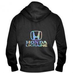 Мужская толстовка на молнии Honda Ukraine Голограмма