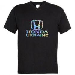 Мужская футболка  с V-образным вырезом Honda Ukraine Голограмма