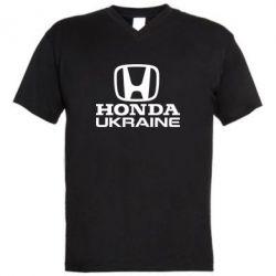 Мужская футболка  с V-образным вырезом Honda Ukraine