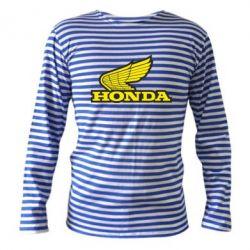 Тельняшка с длинным рукавом Honda Vintage Logo - FatLine
