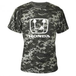 Камуфляжна футболка Honda - FatLine