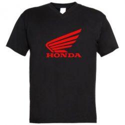 Мужская футболка  с V-образным вырезом Honda - FatLine
